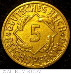 Image #1 of 5 Reichspfennig 1936 G