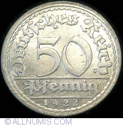 Image #1 of 50 Pfennig 1922 F