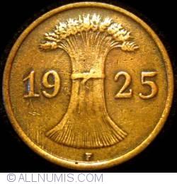 Image #2 of 1 Reichspfennig 1925 F