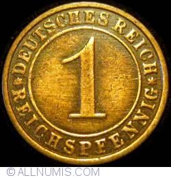 Image #1 of 1 Reichspfennig 1925 F