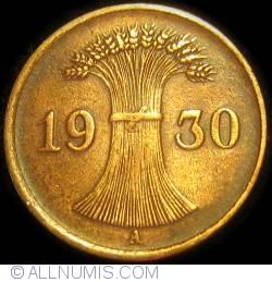 Image #2 of 1 Reichspfennig 1930 A