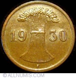 Image #2 of 1 Reichspfennig 1930 F