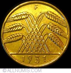 Image #2 of 10 Reichspfennig 1931 F