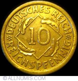Image #1 of 10 Reichspfennig 1931 F