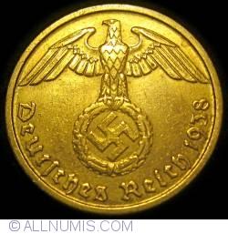 Image #2 of 10 Reichspfennig 1938 J