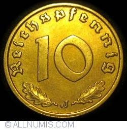 Image #1 of 10 Reichspfennig 1938 J
