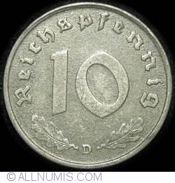 Image #1 of 10 Reichspfennig 1943 D