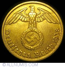 Image #2 of 10 Reichspfennig 1938 G