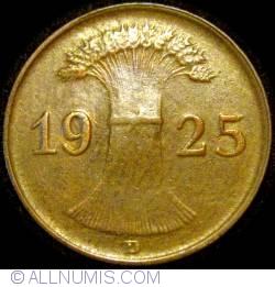 Image #2 of 1 Reichspfennig 1925 D