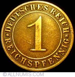 Image #1 of 1 Reichspfennig 1925 E