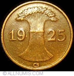 1 Reichspfennig 1925 G