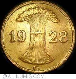 Image #2 of 1 Reichspfennig 1928 G