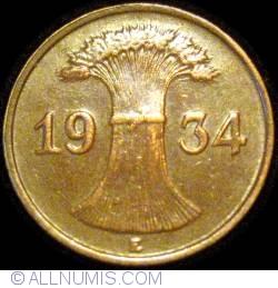 Image #2 of 1 Reichspfennig 1934 E