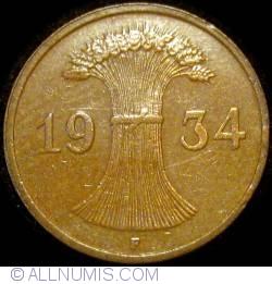 Image #2 of 1 Reichspfennig 1934 F