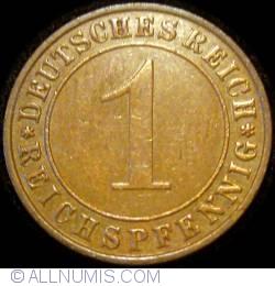 Image #1 of 1 Reichspfennig 1934 F