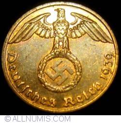 Image #2 of 1 Reichspfennig 1939 F