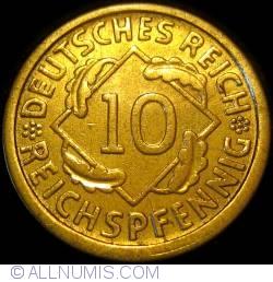 Image #1 of 10 Reichspfennig 1924 J