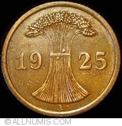 Image #2 of 2 Reichspfennig 1925 A