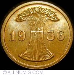 Image #2 of 2 Reichspfennig 1936 F