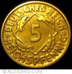 Image #1 of 5 Reichspfennig 1925 D