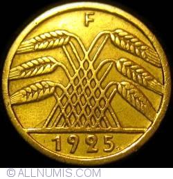 Image #2 of 5 Reichspfennig 1925 F (large 5)