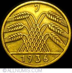 Image #2 of 5 Reichspfennig 1936 J