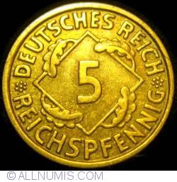 Image #1 of 5 Reichspfennig 1936 J