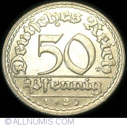 Image #1 of 50 Pfennig 1920 D