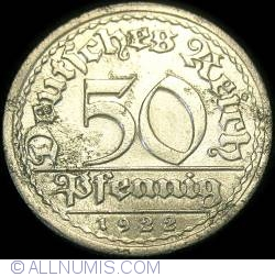 Image #1 of 50 Pfennig 1922 J