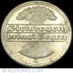 Image #2 of 50 Pfennig 1922 J
