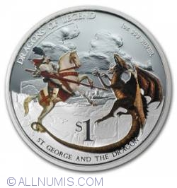 Image #1 of 1 Dollar 2012 - Dragons of Legend - St. George and the Dragon
