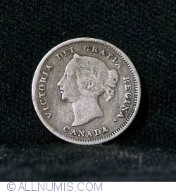 Image #2 of 5 Cents 1880 H