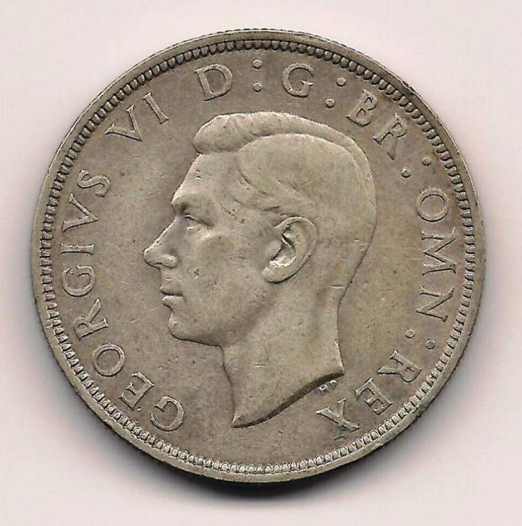 Half Crown 1939 George Vi 1936 1952 Great Britain