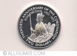 Imaginea #1 a 2 Dollars 1973 - 20th Anniversary Of Coronation