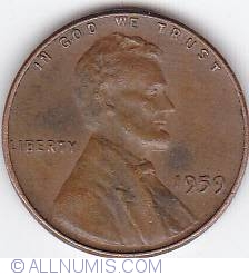 Image #1 of 1 Cent 1959