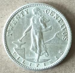 20 Centavos 1945 D