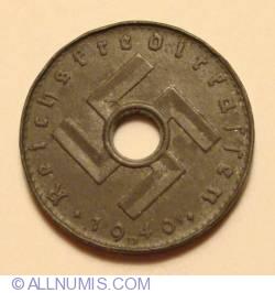 Imaginea #2 a 5 Reichspfennig 1940 D