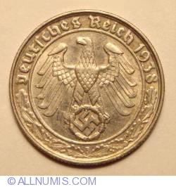 Image #2 of 50 Reichspfennig 1938 B