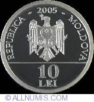 Image #1 of 10 Lei 2005 - Red Book of Moldova Republic - Imperial Eagle