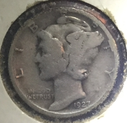 Image #2 of Dime 1927 S