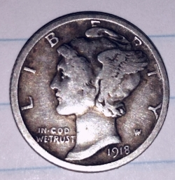 Image #1 of Dime 1918 S