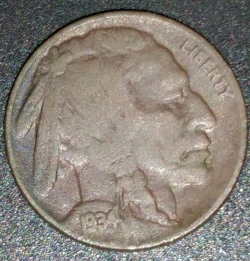 Buffalo Nickel 1934