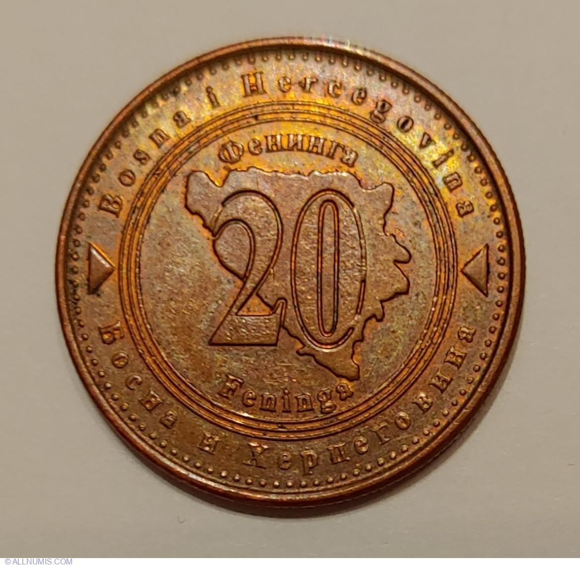 20 Feninga 2017, Bosnian Mark 1998-present - Bosnia and