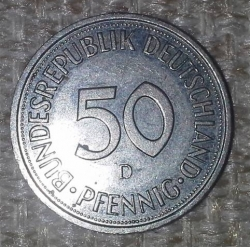 Imaginea #1 a 50 Pfennig 1995 D