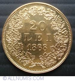 Image #1 of 20 Lei 1868 - Replica of the first Romanian gold coin