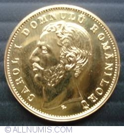 Image #2 of 20 Lei 1868 - Replica of the first Romanian gold coin