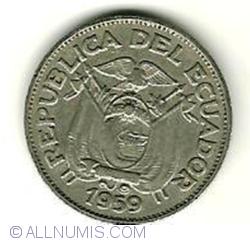 Imaginea #2 a 20 Centavos 1959