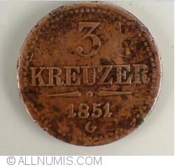 Image #1 of 3 Kreuzer 1851 G