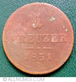 1 Kreuzer 1851 E