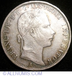 Image #1 of 1 Florin 1858 A